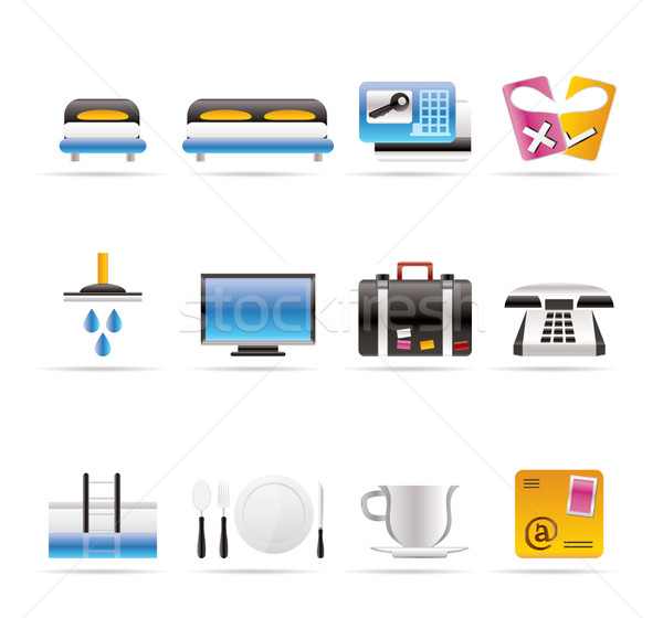 Hotel and motel icons Stock photo © stoyanh