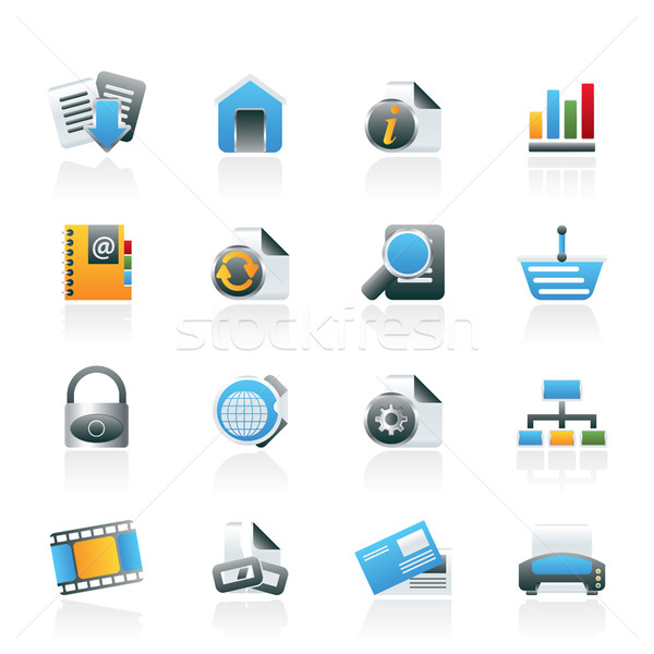 Web Site and Internet icons Stock photo © stoyanh