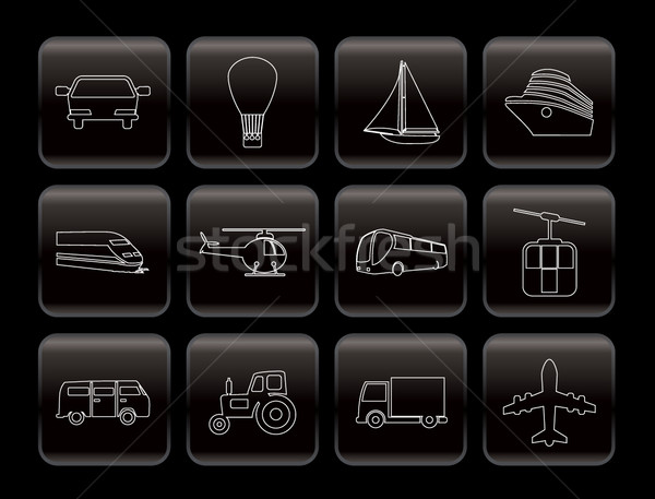 Transportation and travel icons Stock photo © stoyanh