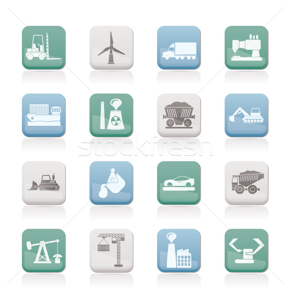 Business and industry icons  Stock photo © stoyanh