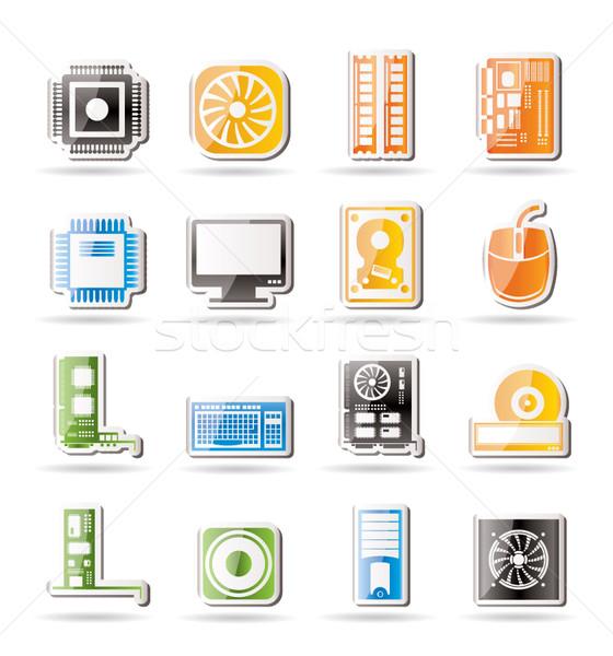 Zdjęcia stock: Komputera · wydajność · wyposażenie · ikona · wektora