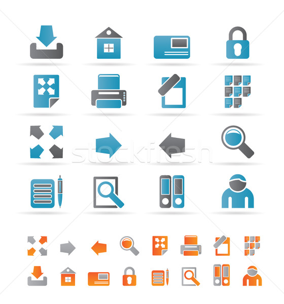 Internet and Web Site Icons Stock photo © stoyanh