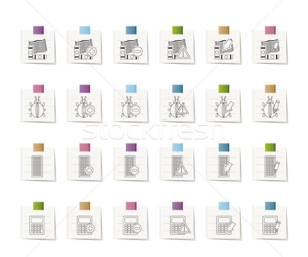 24 działalności biuro stronie ikona wektora Zdjęcia stock © stoyanh
