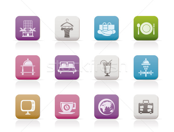 Hotel, motel and holidays icons  Stock photo © stoyanh