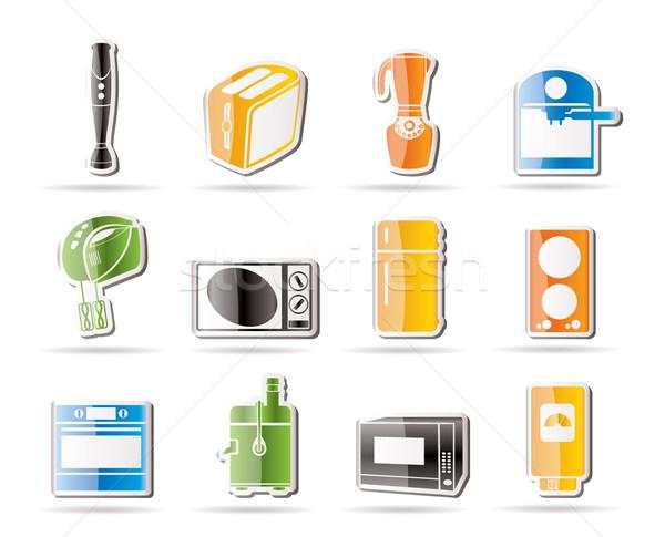 Zdjęcia stock: Proste · kuchnia · domu · wyposażenie · ikona · wektora