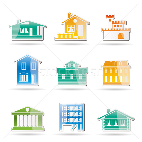 different kind of houses and buildings  Stock photo © stoyanh