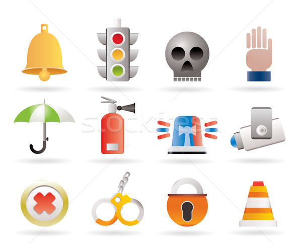 Stock photo: Surveillance and Security Icons