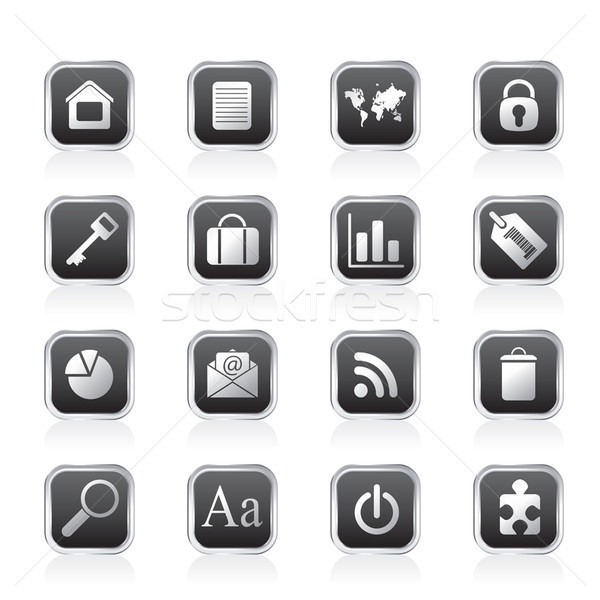 Simple Business and Internet Icons  Stock photo © stoyanh