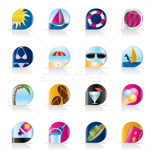 Realistic Summer and Holiday Icons  Stock photo © stoyanh
