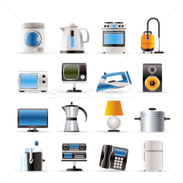 Domu wyposażenie ikona wektora kawy Zdjęcia stock © stoyanh