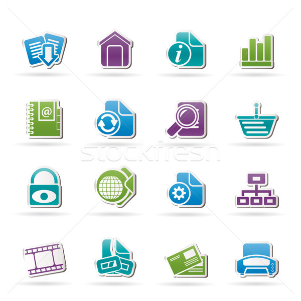 Stock photo: Web Site and Internet icons