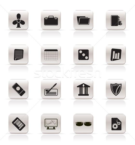 Proste działalności biuro ikona wektora Zdjęcia stock © stoyanh