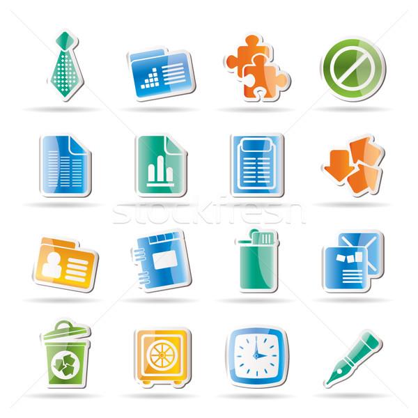 Działalności biuro ikona wektora książki Zdjęcia stock © stoyanh