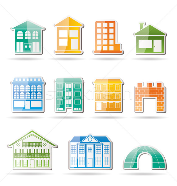 different kinds of houses and buildings  Stock photo © stoyanh
