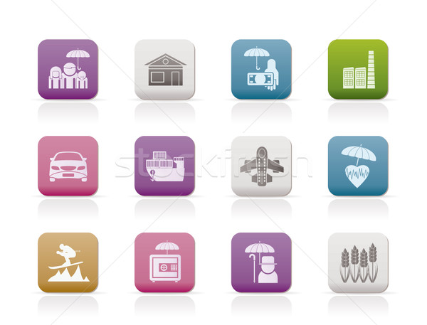 Stock photo: different kind of insurance and risk icons