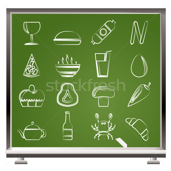 shop, food and drink icons Stock photo © stoyanh