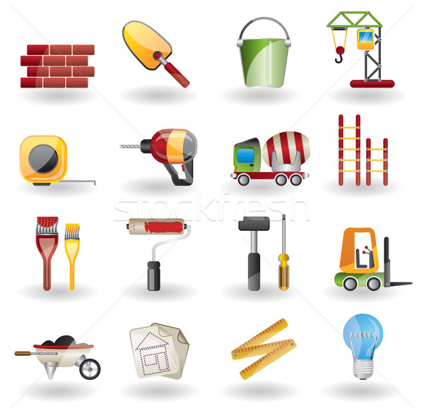 Construction and Building vector Icon Set. Easy To Edit Vector Image. Stock photo © stoyanh