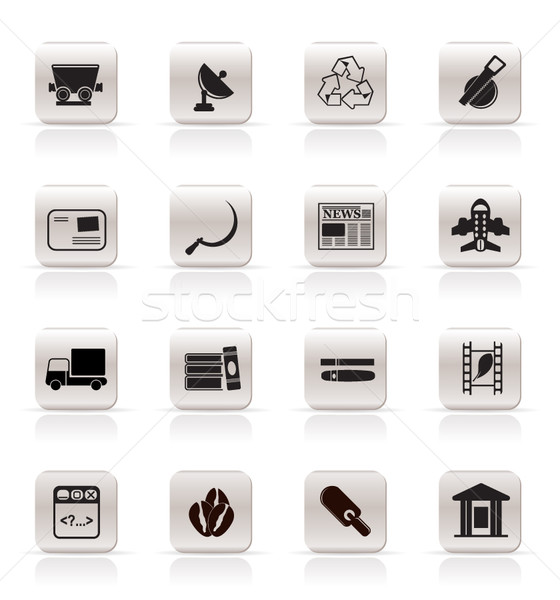 Simple Business and industry icons Stock photo © stoyanh