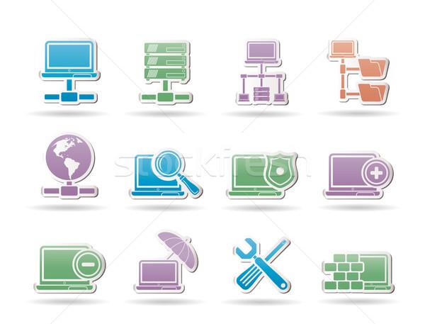 Sieci serwera hosting obiektów komputera Internetu Zdjęcia stock © stoyanh