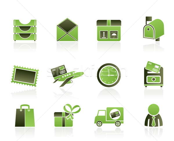 Post, correspondence and Office Icons  Stock photo © stoyanh