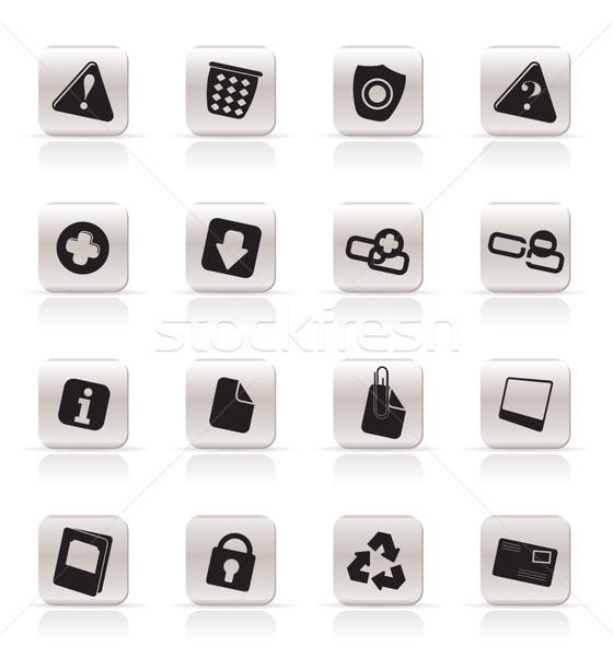 Zdjęcia stock: Proste · ikony · komputerowe · wektora · pytanie