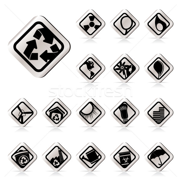 Stock photo: Simple Ecology icons - Set for Web Applications - Vector