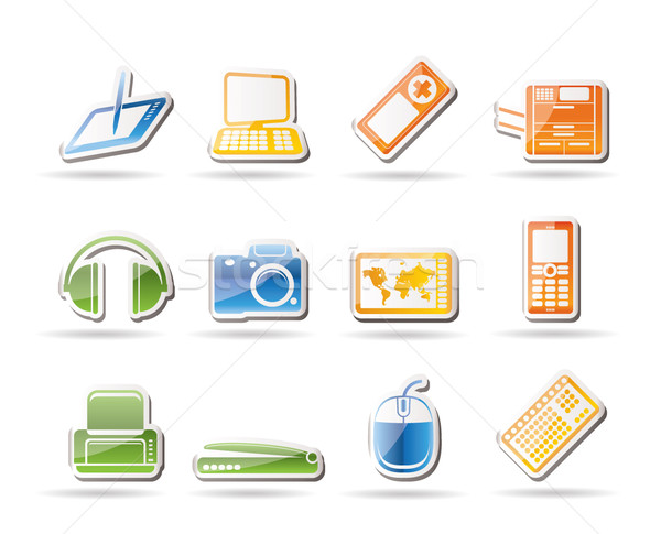 Simple técnica iconos vector Foto stock © stoyanh