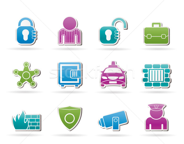social security and police icons  Stock photo © stoyanh