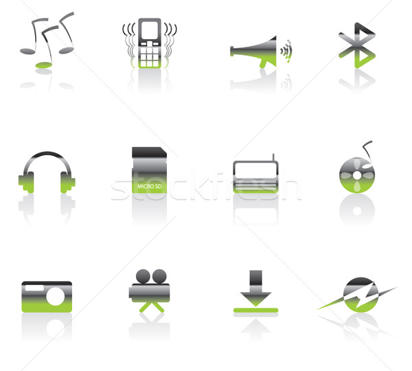 mobile phone  performance icons Stock photo © stoyanh