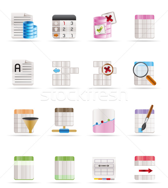 Database and Table Formatting Icons  Stock photo © stoyanh