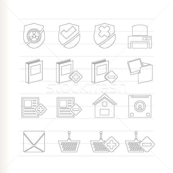 Foto stock: Internet · site · botões · ícones · vetor