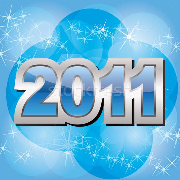Nowego 2011 rok szczęśliwy tle tapety Zdjęcia stock © stoyanh