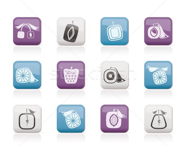 Zdjęcia stock: Streszczenie · placu · owoców · ikona · wektora