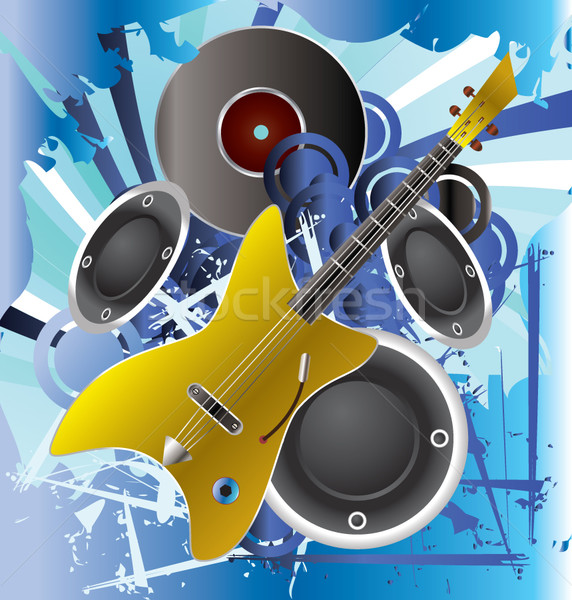 Music background with guitar Stock photo © stoyanh