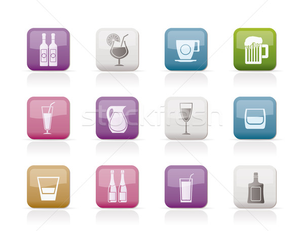 Stock photo: different kind of drink icons