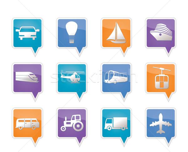 Vervoer reizen iconen vector ontwerp Stockfoto © stoyanh