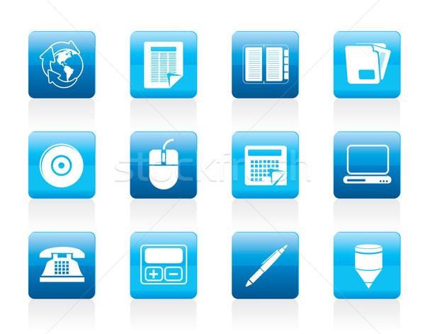 Zdjęcia stock: Działalności · biuro · narzędzia · ikona · wektora