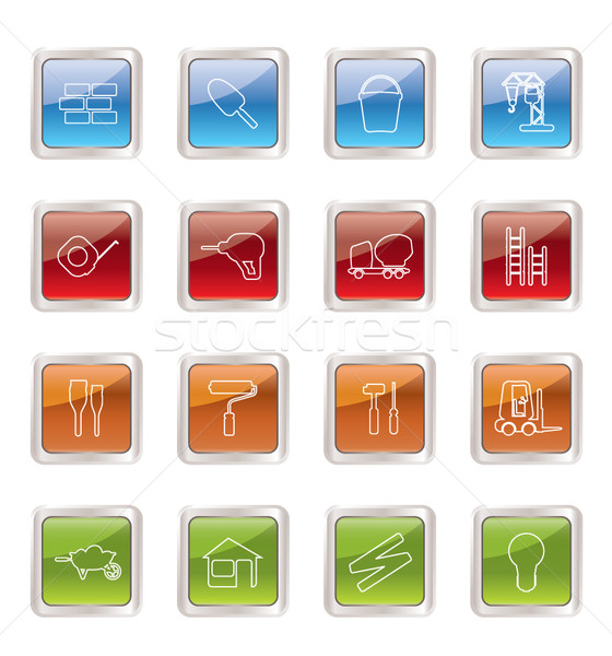 Construction and Building Icon Set. Easy To Edit Vector Image. Stock photo © stoyanh