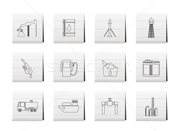 Zdjęcia stock: Oleju · benzyny · przemysłu · ikona · wektora