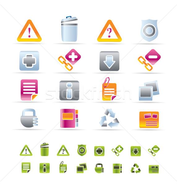 Weboldal számítógép ikonok vektor ikon gyűjtemény technológia felirat Stock fotó © stoyanh