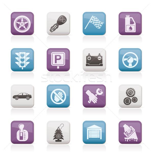 Araba taşımacılık simgeler vektör güvenlik Stok fotoğraf © stoyanh