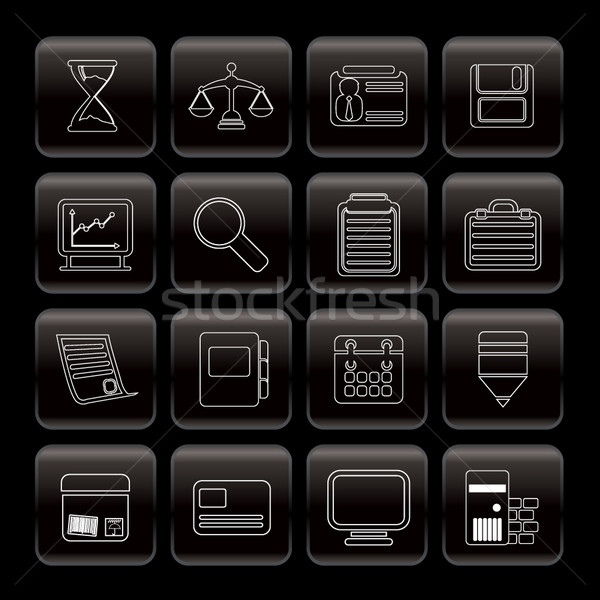 Line  Business and office  Icons   Stock photo © stoyanh