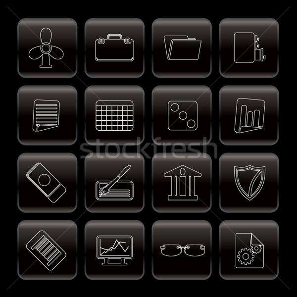 линия бизнеса служба иконки вектора Сток-фото © stoyanh
