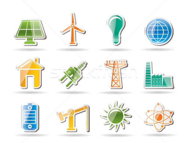 power, energy and electricity objects Stock photo © stoyanh