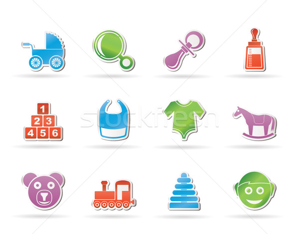 baby and children icons  Stock photo © stoyanh