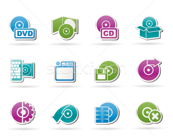 Computer Media and disk Icons  Stock photo © stoyanh