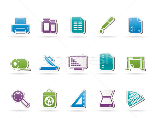 Commercial print icons  Stock photo © stoyanh