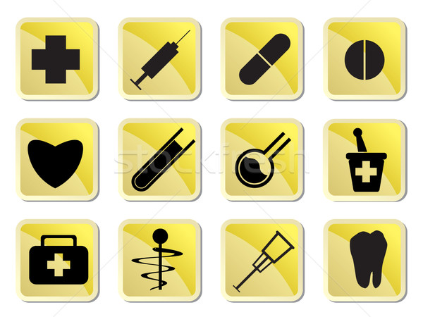 Medical and healtcare Icons Stock photo © stoyanh