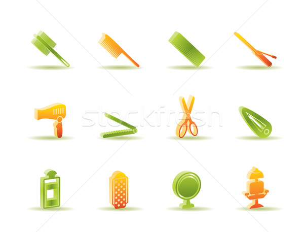hairdressing, coiffure and make-up icons   Stock photo © stoyanh