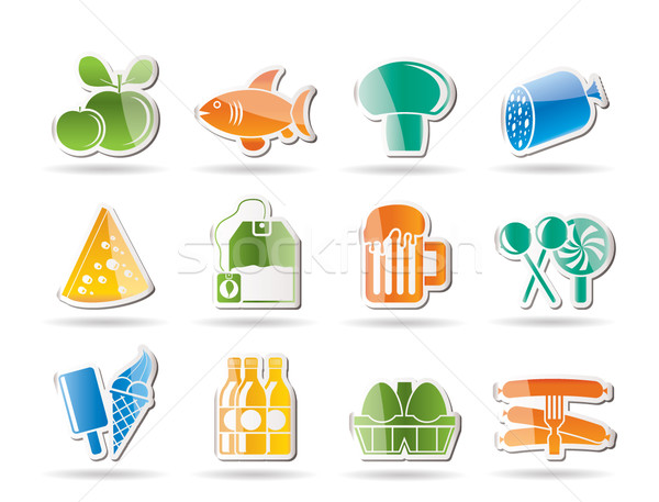 food, drink and shop icons  Stock photo © stoyanh